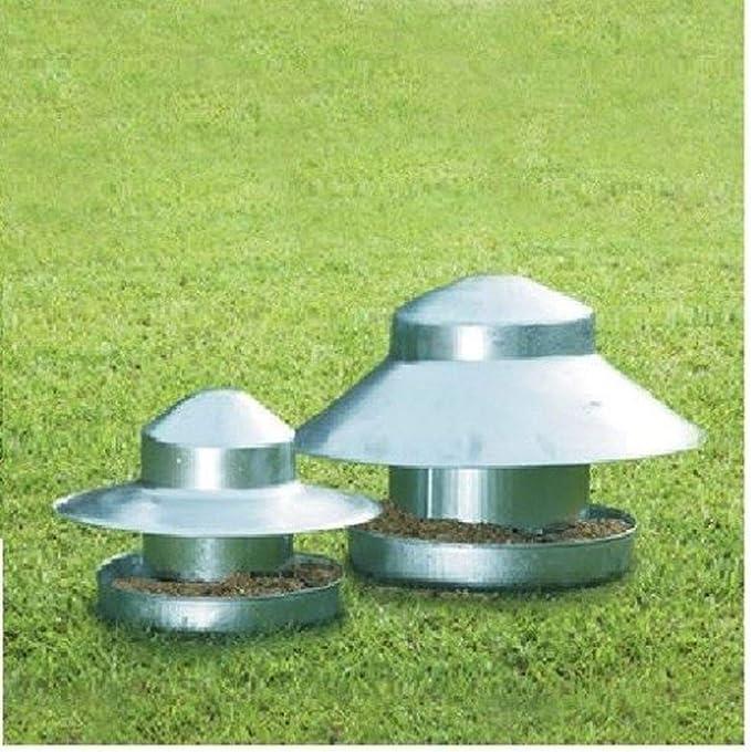 LY Tools Eltex - Comedero galvanizado para suelo ideal para faisanes pájaros domésticos y pollos