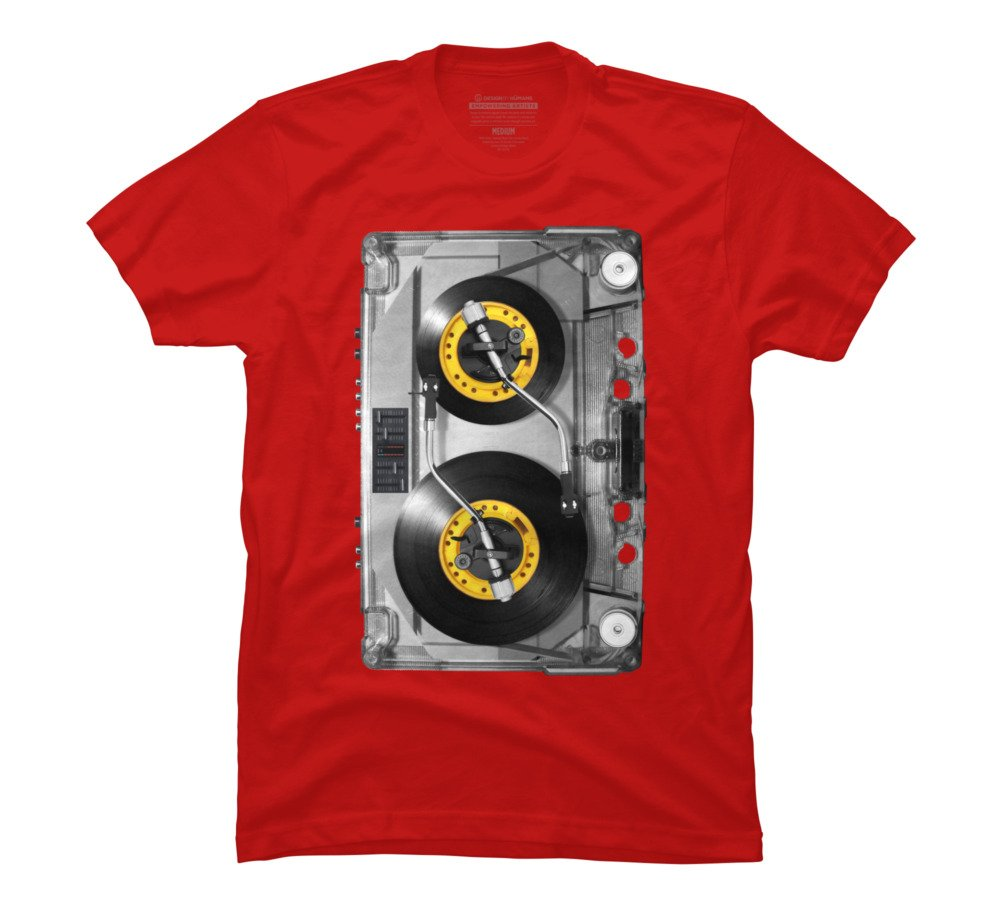 NONSTOP PLAY Men's Large Red Graphic T Shirt - Design By Humans