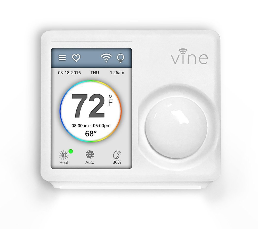 Vine Wi Fi Programmable Thermostat Smart With Touchscreen Wiring 3 Baseboard Heaters Together And Nightlight 2nd Generation