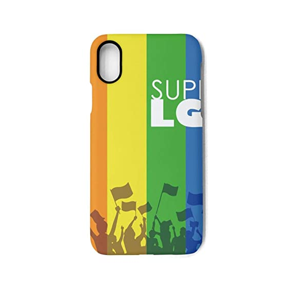 Amazon.com: Hiunisyue iPhone X Case Gay Pride LGBT Support ...