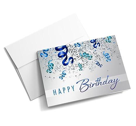 Amazon.com: Cumpleaños Confeti Galore – Tarjetas de ...