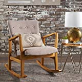 Collin Mid Century Fabric Rocking Chair (Wheat)