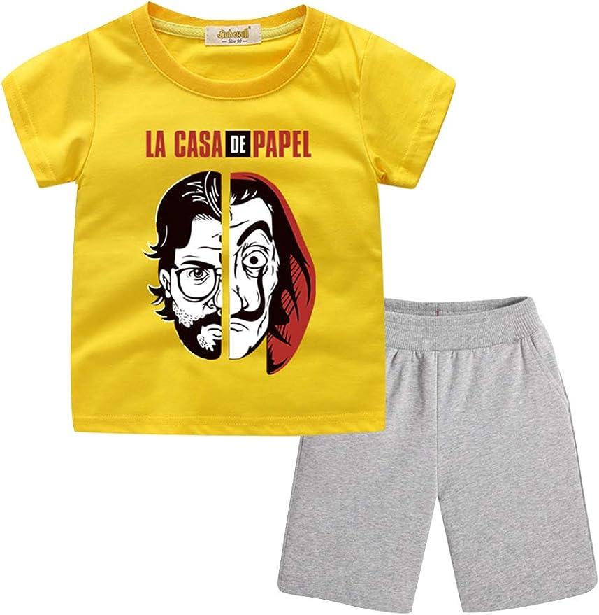 Chándal para Niños La casa de Papel, Camiseta y Pantalón Cortos La ...