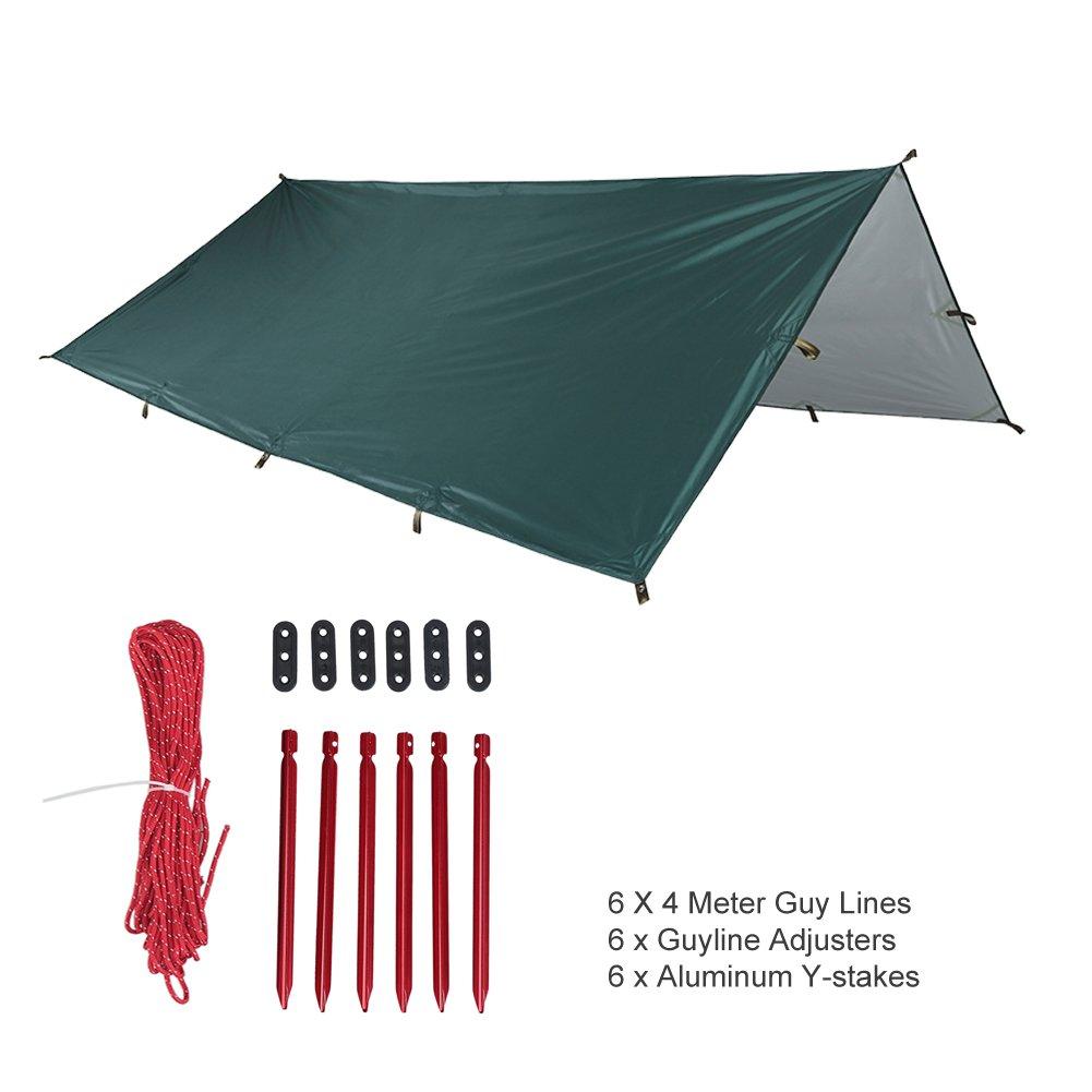 OneTigrisテントタープ、防水万能丈夫雨Fly Tarp Shelterのバックパッキングキャンプサバイバル10.5 0ft B06XY4HZQK