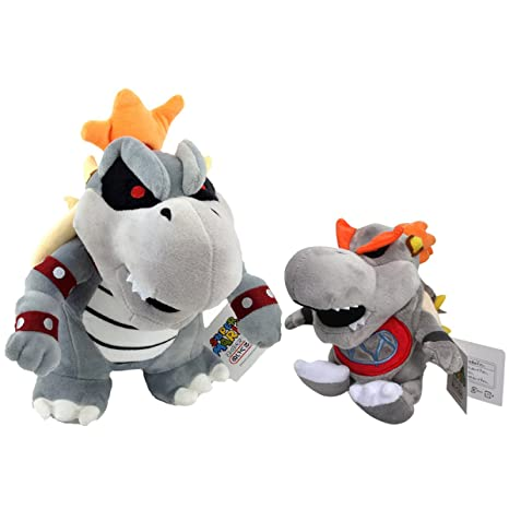 Super Mario Bros Dry Bowser Baby Dry Bowser Troopa Boss Plush Toy Stuffed Animal Soft 9""