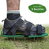 Kyпить MIGAGA Lawn Aerator Spike Shoes - Heavy Duty Steel Spikes, Adjustable Straps, Zinc Alloy Buckles with Wrench and Bonus Spare Parts - Yard and Garden Tools на Amazon.com