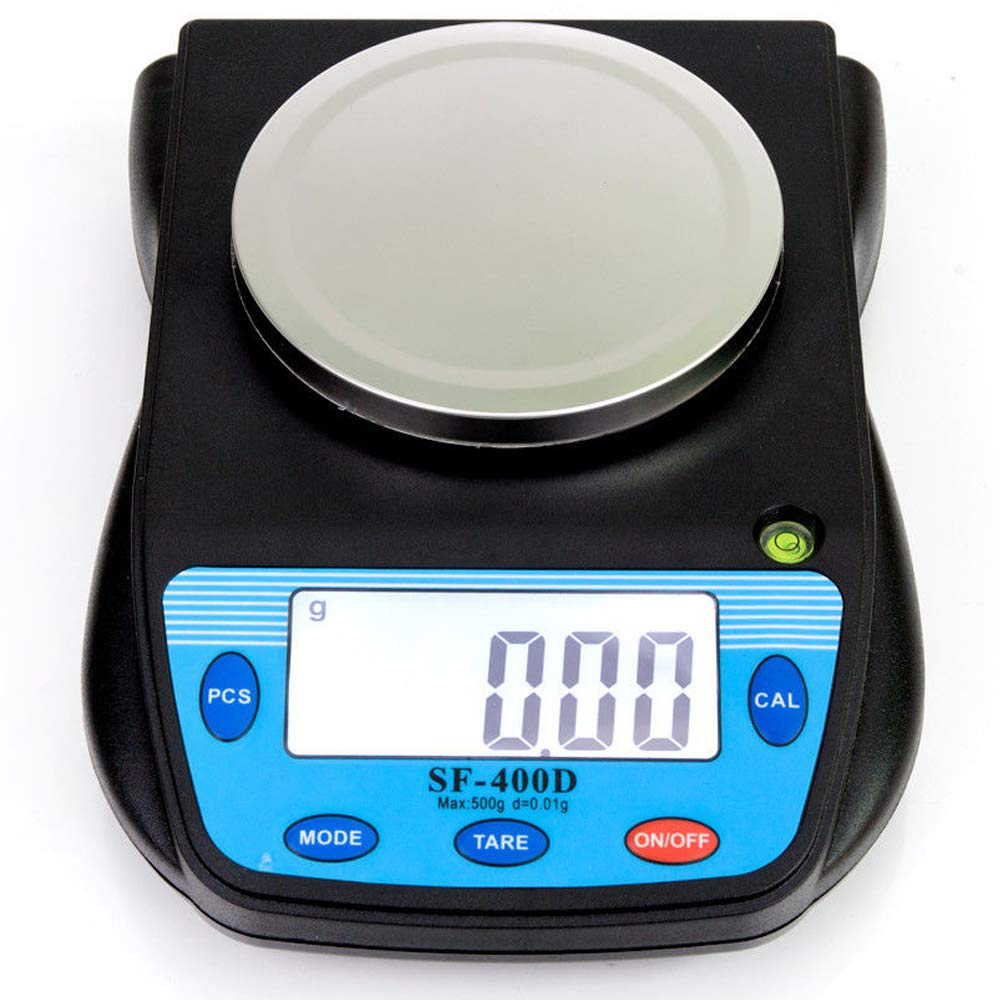 500g x 0.01g Digital High Precision Laboratory Analytical Balance Scale with Large LCD Display, Multifunctional Compact Lab Scales Accuracy Weighs Grams, Carats, Ounces, Pounds for Science, Postal by MOCCO