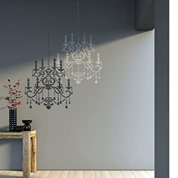 Amazon j boutique stencils wall stencil crystal chandelier j boutique stencils wall stencil crystal chandelier template for diy decor better than decals mozeypictures Images