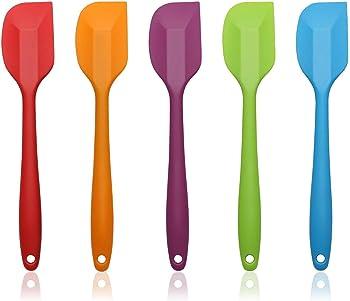 AEMIAO 5 piezas Juego de Espátula de Silicona Utensilios de Cocina Espátulas Sin BPA