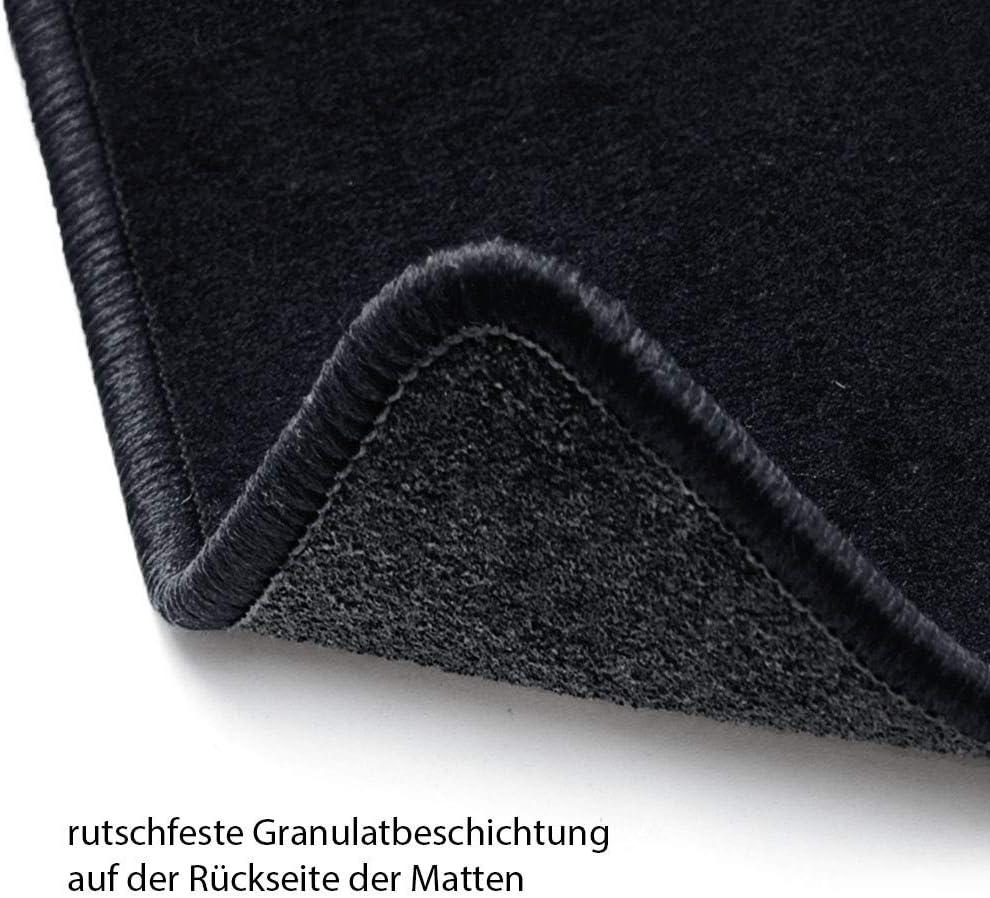 Trittschutz Kunststoff Rand Kettelung Schwarz Set 4-teilig B/är-AfC MA04951 Ideal Auto Fu/ßmatten Nadelvlies Schwarz Passgenau f/ür Modell Siehe Details