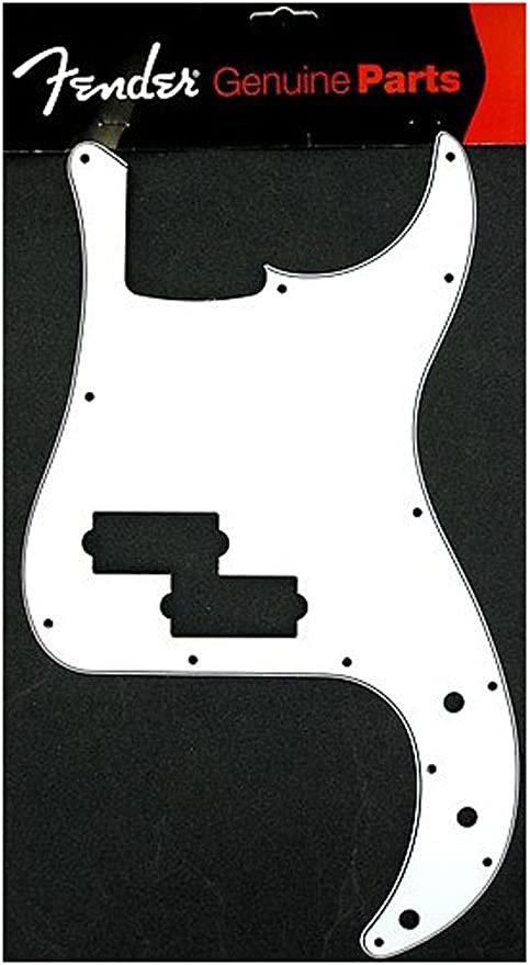 Bass 3-Ply Pickguard For P WHITE NEW
