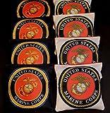 US MARINE CORPS EAGLE GLOBE EMBLEM 8 ACA regulation custom Cornhole bags B242