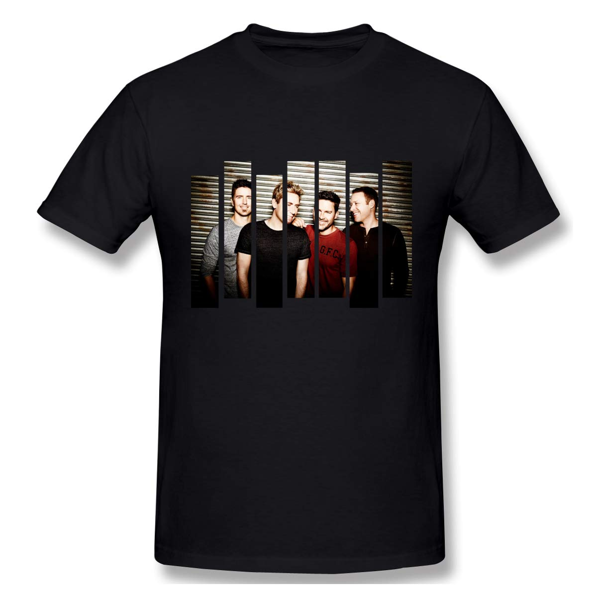 S Print With Nickelback Comfortable Outdoor Short Sleeve Shirt Black