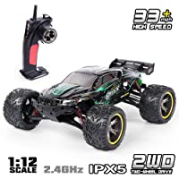 Amazon.com deals on GPTOYS RC Truck 33MPH 2.4GHz 2WD Monster Remote Control Car