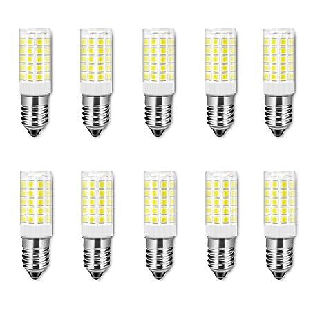 E14 Bombilla LED, 5 vatios equivalente a 50 vatios, blanco frío 6000K para campana