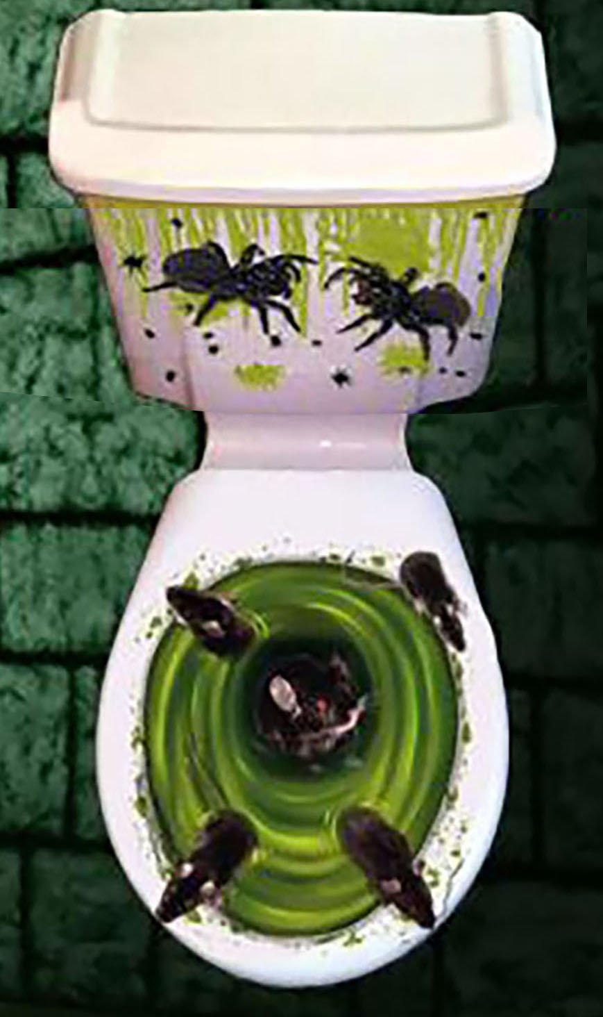 well-wreapped Halloween Horror Toilet Decoration Cover (Rats)