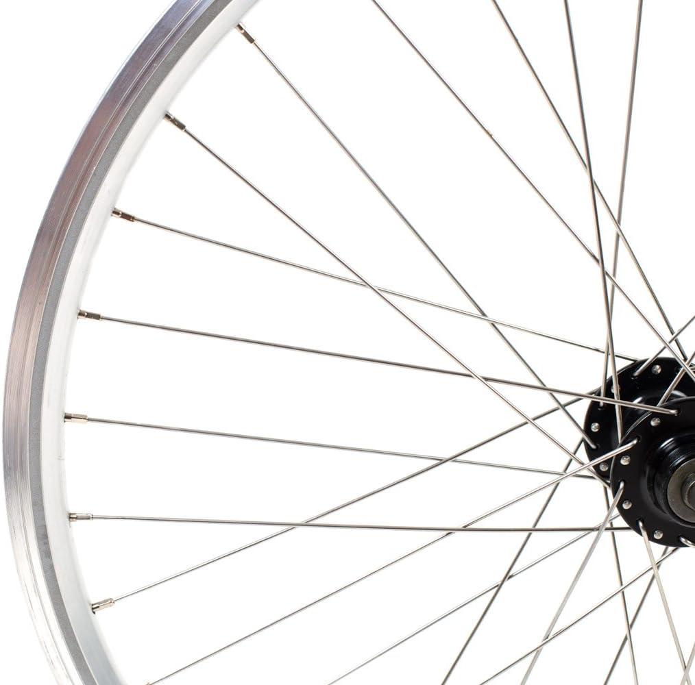26 Zoll Laufrad YAK19 19-559 silber bereift schwarz 26x1.95 Zahnkranz 6fach