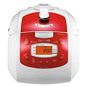 Cuckoo Electric Pressure Rice Cooker CRP-FA0610FR (RED) (Red)