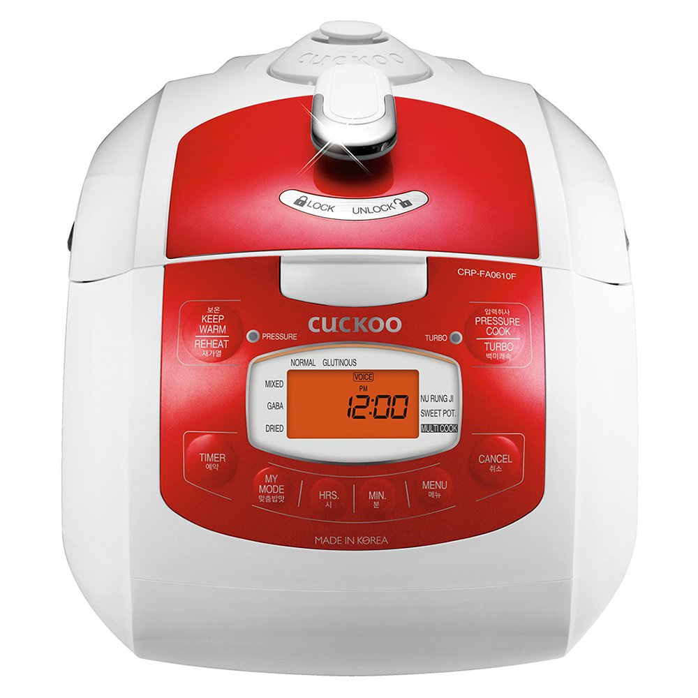 Cuckoo Electric Pressure Rice Cooker CRP-FA0610FR (Red) by Cuckoo