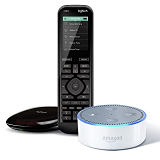 Echo Dot (2nd Generation) - White + Logitech Harmony Elite