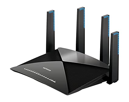 Netgear Nighthawk X10 AD7200 802.11ac/ad Quad-Stream Wi-Fi Router (Black) Networking Devices at amazon