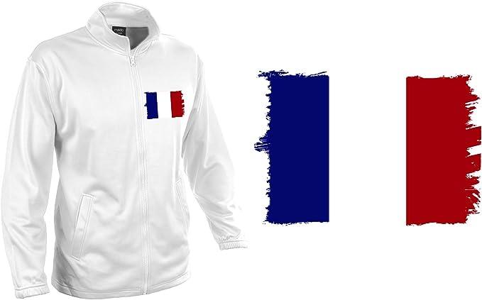 MERCHANDMANIA Chaqueta Tecnica 1 Dibujo Bandera DE Francia Jacket: Amazon.es: Ropa y accesorios