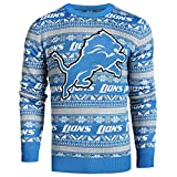 Forever Collectibles Detroit Lions 2016 Aztec Print Ugly Crew Neck Sweater