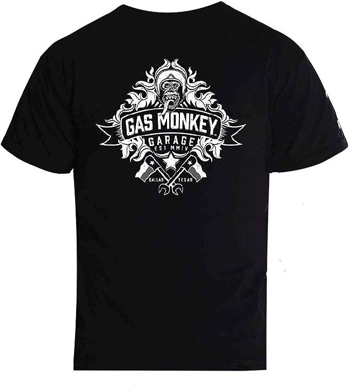 Camisa oficial para hombre, diseño de mono de gas: Amazon.es: Ropa y accesorios