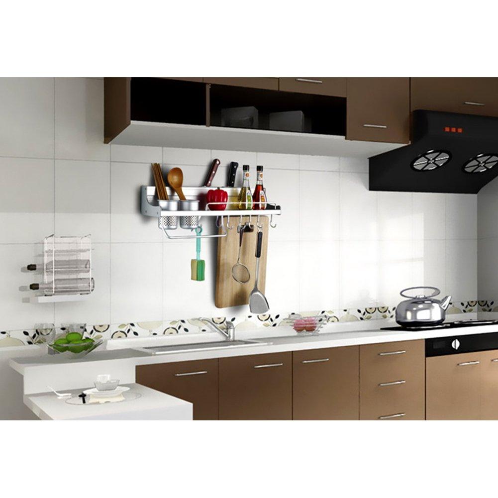 asciugamani e altri utensili da cucina supporto per utensili da parete multifunzione in alluminio per utensili da cucina porta spezie Candora mestolo organizer da parete per cucina