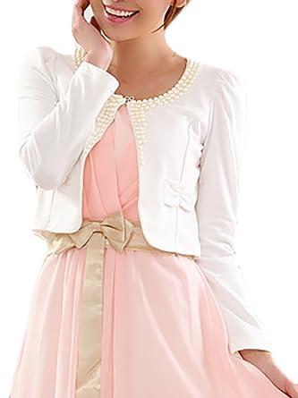 Adelina Bolero Mujer Elegante Tallas Grandes Manga Larga Cardigan Ropa Fiesta Modernas Crop Top Color Sólido Vestidos Petite Abrigos Fino: Amazon.es: Ropa y ...