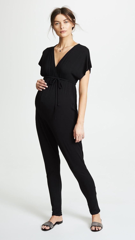 e6d251e4dc80 Amazon.com  Ingrid   Isabel Women s Maternity Jumpsuit  Clothing