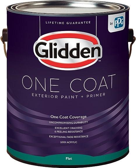 Glidden Exterior Paint Primer Greige Antique White One Coat Flat 1 Gallon Home Improvement Amazon Com