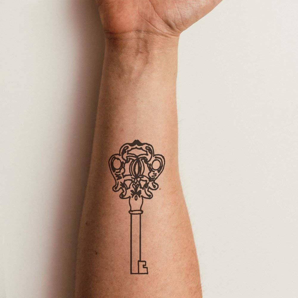 Grande Llave Adornada Tatuajes Temporales (TO00032203): Amazon ...