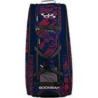 """Boombah Beast Rolling Bat Bag 2.0-40"""" x 14"""" x 13"""" - Outbreak Navy/Red/Royal - Holds 8 Bats, Glove and Shoe Compartments"""
