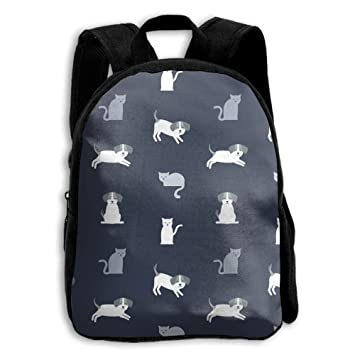 SZYYMM Libreta de impresión Escolar para niños con diseño de Gato y Perro, con Correa