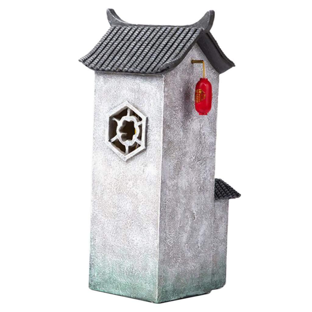 VANKOA Mini casa de Resina Maceta Estatua casa de mu/ñecas en Miniatura Bonsai Crafts Fairy Garden Plant Pot Paisaje Decoraciones