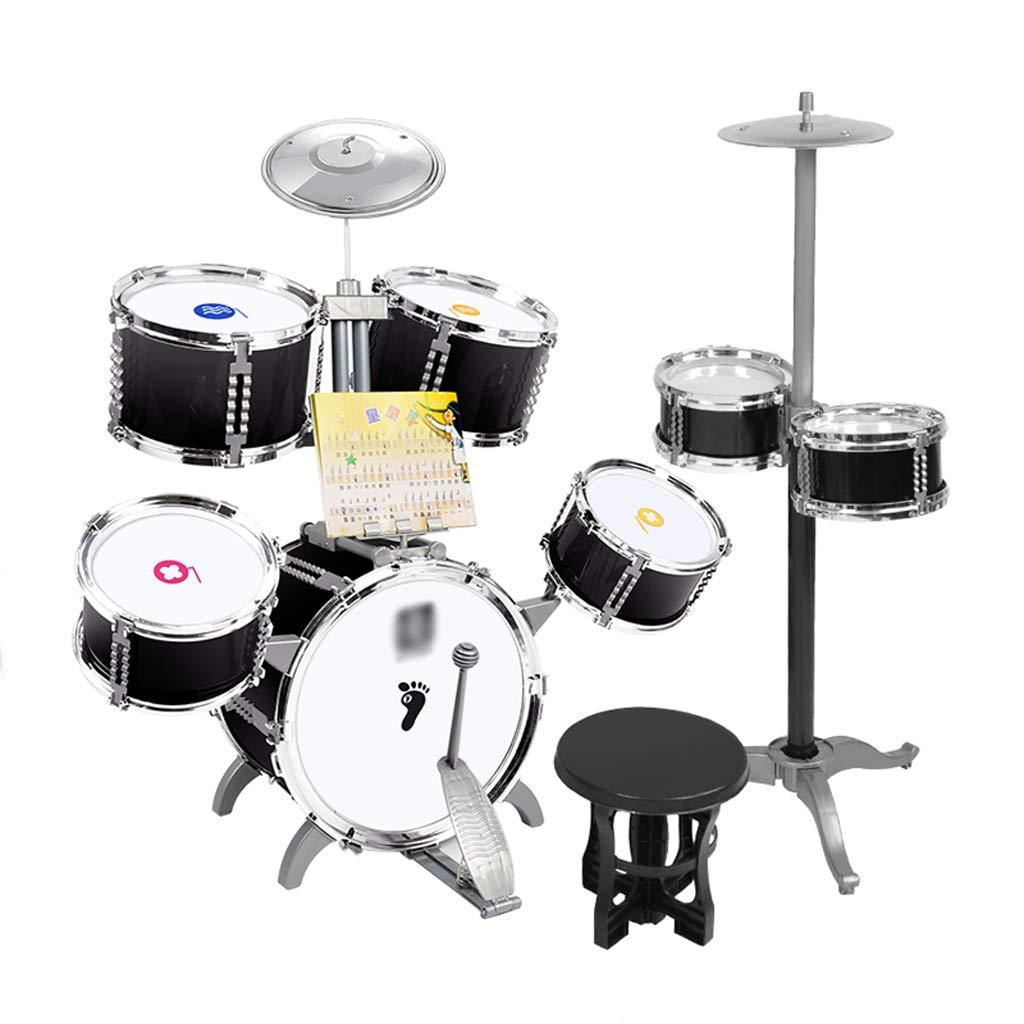 贈り物 DUWEN ドラムキット子供のジャズドラム多機能初心者パーカッション少年ミュージカルおもちゃ (色 黒) 黒 : (色 黒) 黒 B07L3DVMH8, 楠町:e00ce4a6 --- a0267596.xsph.ru