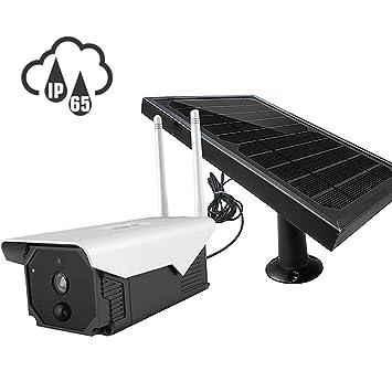 FTSUN Cámara de Seguridad Solar con Panel Solar, cámara ...
