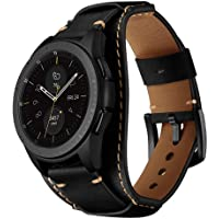 Balerion 20mm/22mm Cuff Genuine Leather Watch Band,Compatible with Samsung Galaxy Watch 42/46mm,Gear Sport,Gear S2 Classic,S3,Fossil Q Explorist gen 4/Marshal and Other 20mm/22mm Band Width Watch