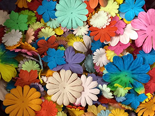 Paper Embellishments Flower (PEPPERLONELY Brand Mulberry Paper Flower Petals 10 Grams)