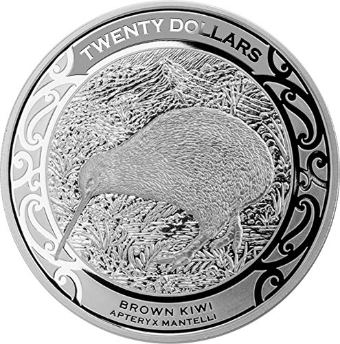 2019 NZ Modern Commemorative PowerCoin BROWN KIWI 1 Kg Silver Coin 20$ New Zealand 2019 Proof