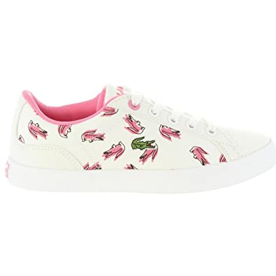 05c5d579c407be Lacoste Girls Childrens Girls Lerond 218 2 Trainers in White - 10 Child