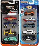 Matchbox Discovery Channel Shark Week & Monster Animal Planet Attack Set 5-Pack Cars / Boats & Trucks