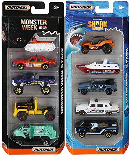 Shark Casting Kit (Matchbox Discovery Channel Shark Week & Monster Animal Planet Attack Set 5-Pack Cars / Boats & Trucks)