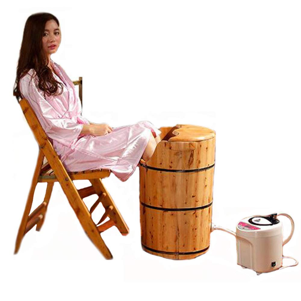 ZXDFG Cedar Wood Foot Bath Barrel Adult Steam Foot Bath Pots Suitable for Families and Hotels