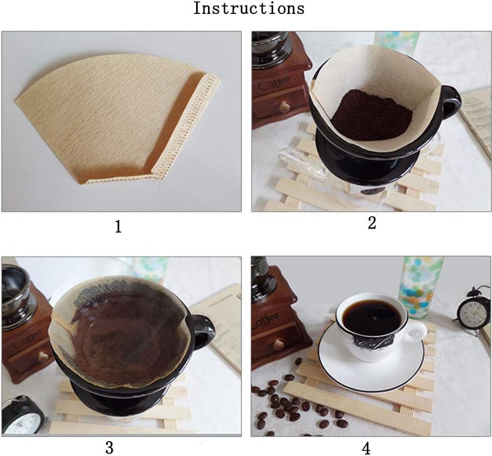 yyuezhi 80 St/ück KaffeeFilter Papier Papierfilter Filtert/üten Filter Papier KaffeeFilter Papier Kaffee Filtert/üten f/ür Ein Ausgewogenes und Aromatisches Geschmackserlebnis Ihres Filterkaffees Brown