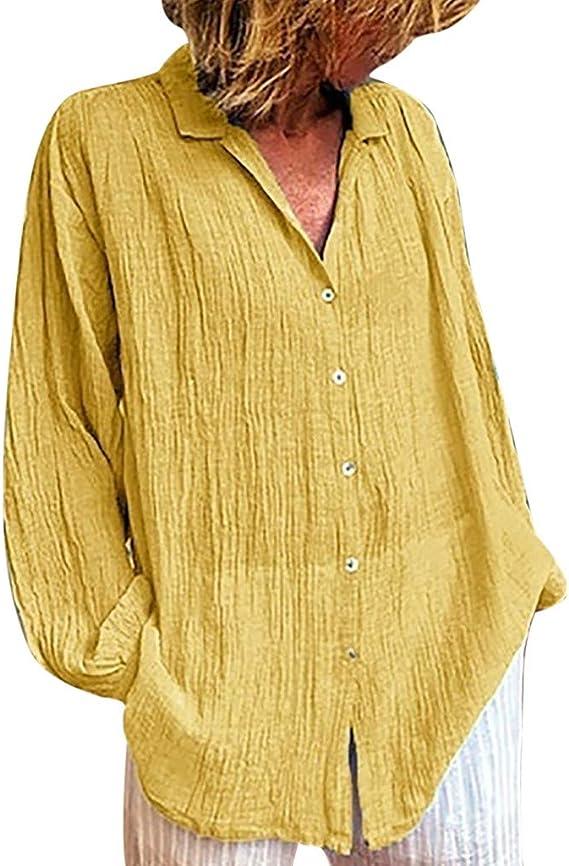 Camisas de Mujer Camisas Casuales Otoño Mujer Camisetas Lisas ...