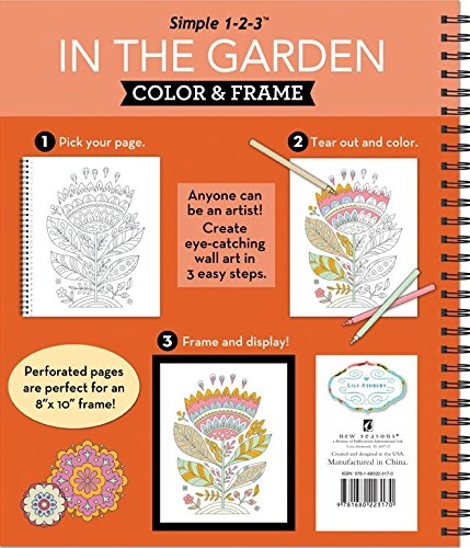 Color & Frame – In the Garden (Adult Coloring Book)