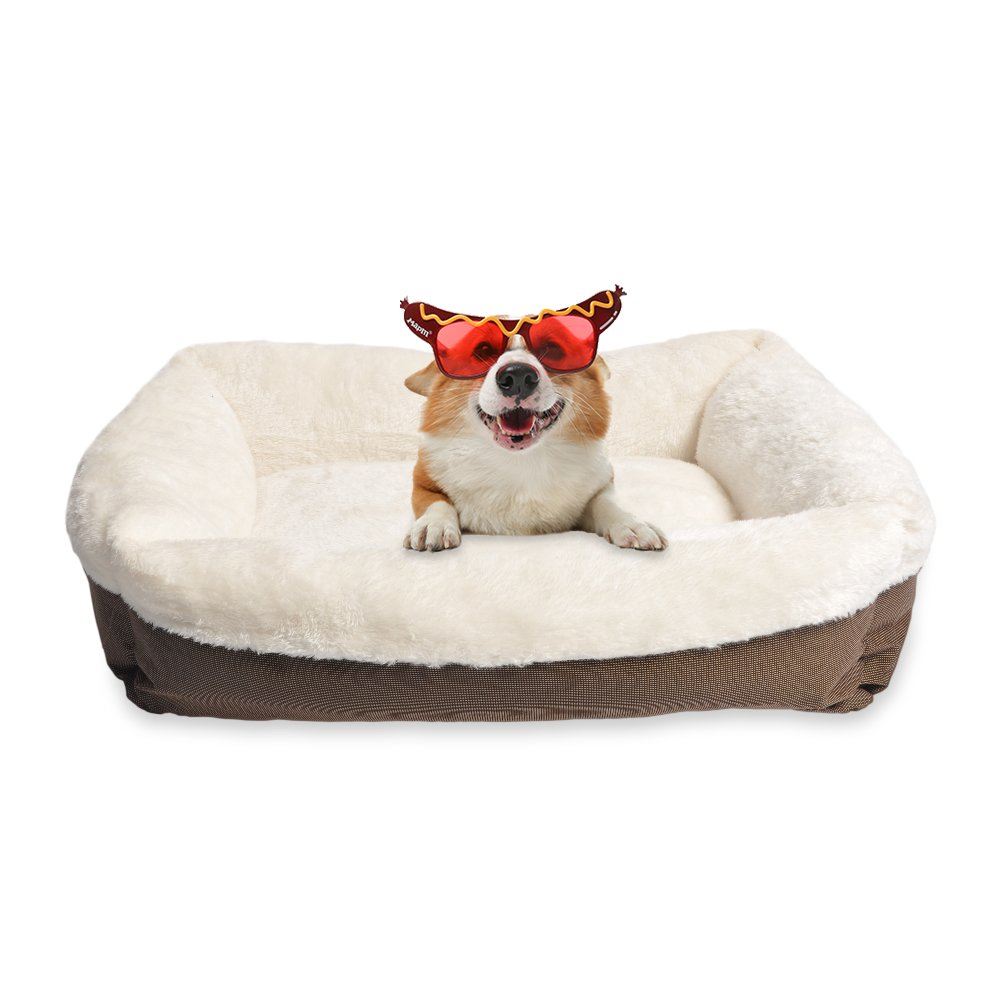 long rich Durable Two Tone Color Oxford Pet Bed, 25x21, by Happycare Textiles