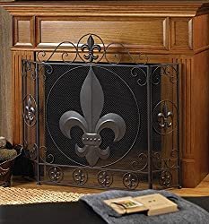 VERDUGO GIFT CO Fleur-De-Lis Fireplace Screen from VERDUGO GIFT CO